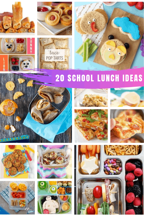 Look! A whole month of easy to make and yummy to eat school lunch ideas for kids and picky eaters! #backtoschool #lunch #kids #food