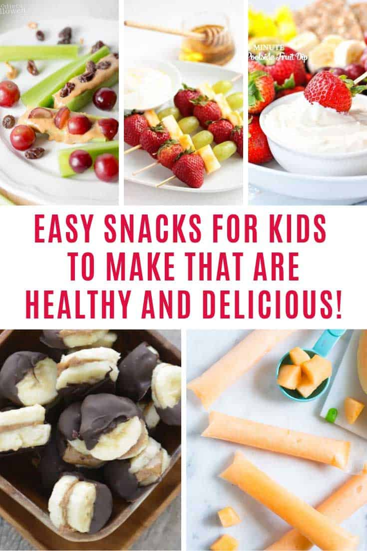 These easy snacks for kids to make are healthy and delicious. Grownups will enjoy them too! Includes gluten free ideas.