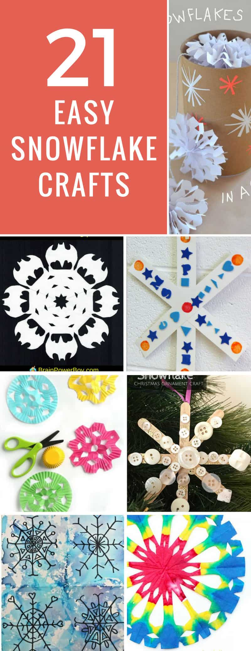 The kids will have a blast with these snowflake crafts! So much fun and easy to make too!