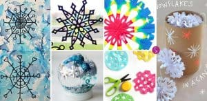 Easy Snowflake Crafts for Kids to Make this Christmas!