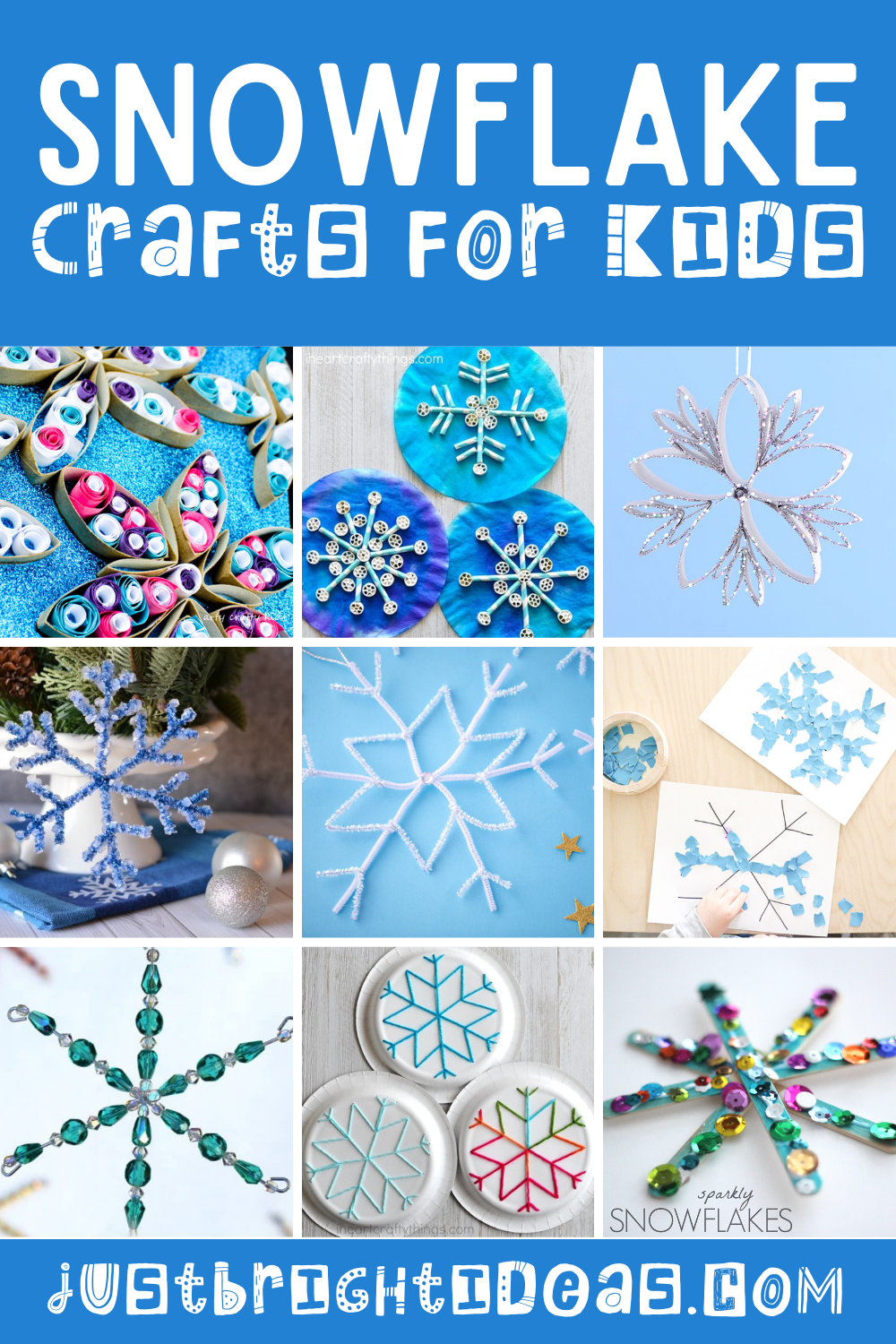 Loving these easy snowflake crafts for kids! So many fun craft projects for kids of all ages - and they sneak in math and fine motor practice too!