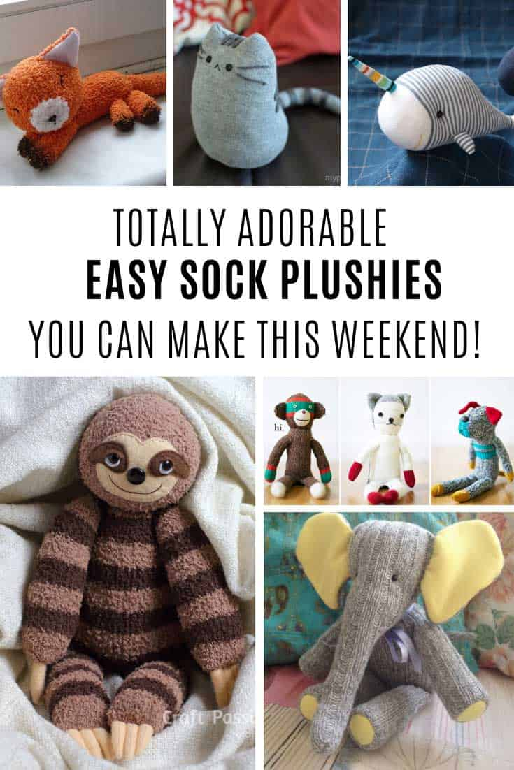 How cute are these easy sock plushies!