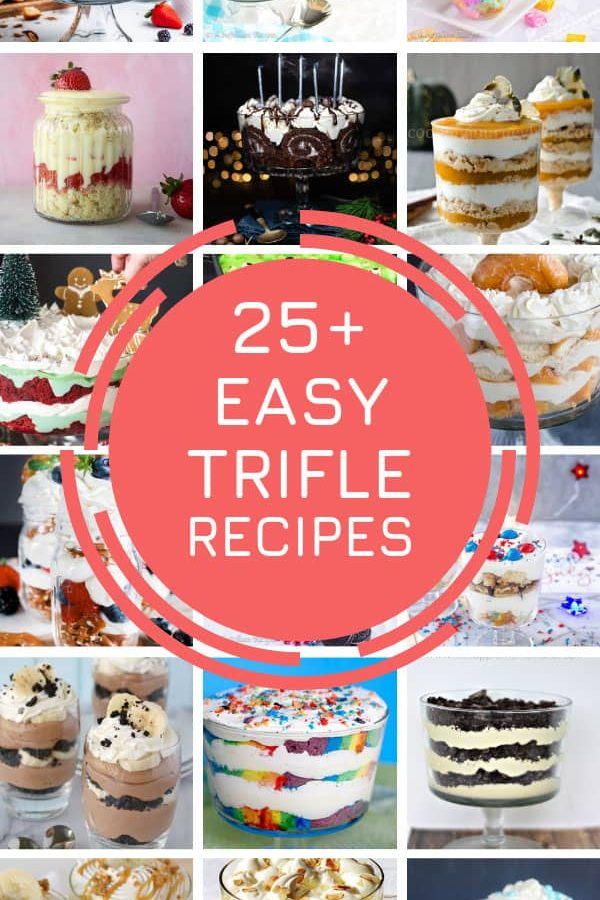 These easy trifle recipes for Holidays will see you through Thanksgiving, Christmas and Halloween! #dessert #recipes #trifles