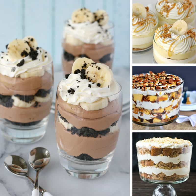 These trifle recipes are totally easy to make and perfect for feeding a crowd at Christmas or Easter. #recipes #christmas #easter