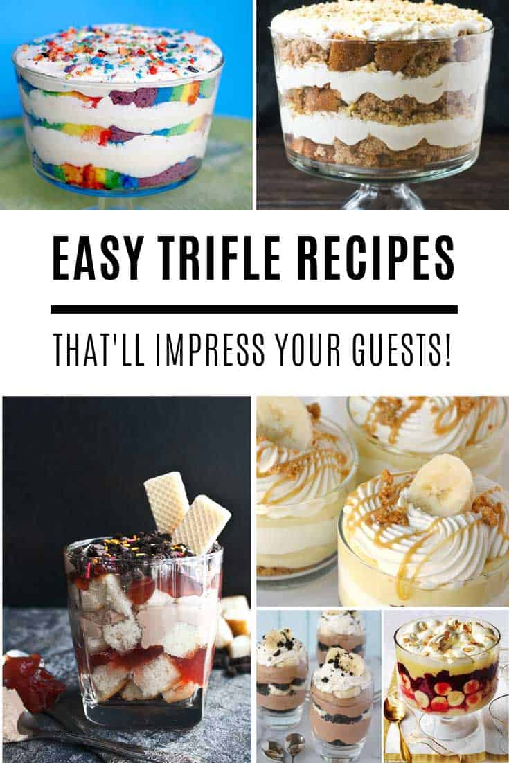 These homemade trifle recipes are so easy they almost make themselves! They're perfect for feeding a crowd on Mother's Day and of course Thanksgiving and Christmas!