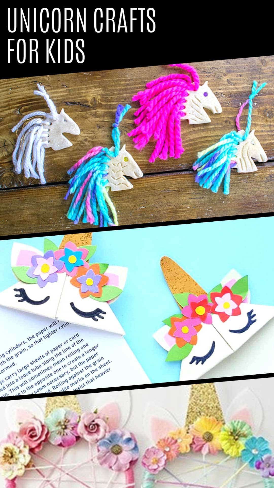 These easy unicorn crafts for kids are completely MAGICAL! So much fun! #unicorn