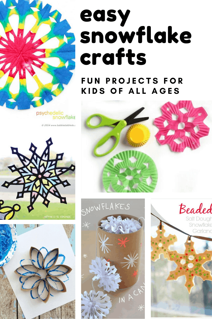 These easy snowflake crafts are the perfect way to teach kids about symmetry and have fun on winter weekends!