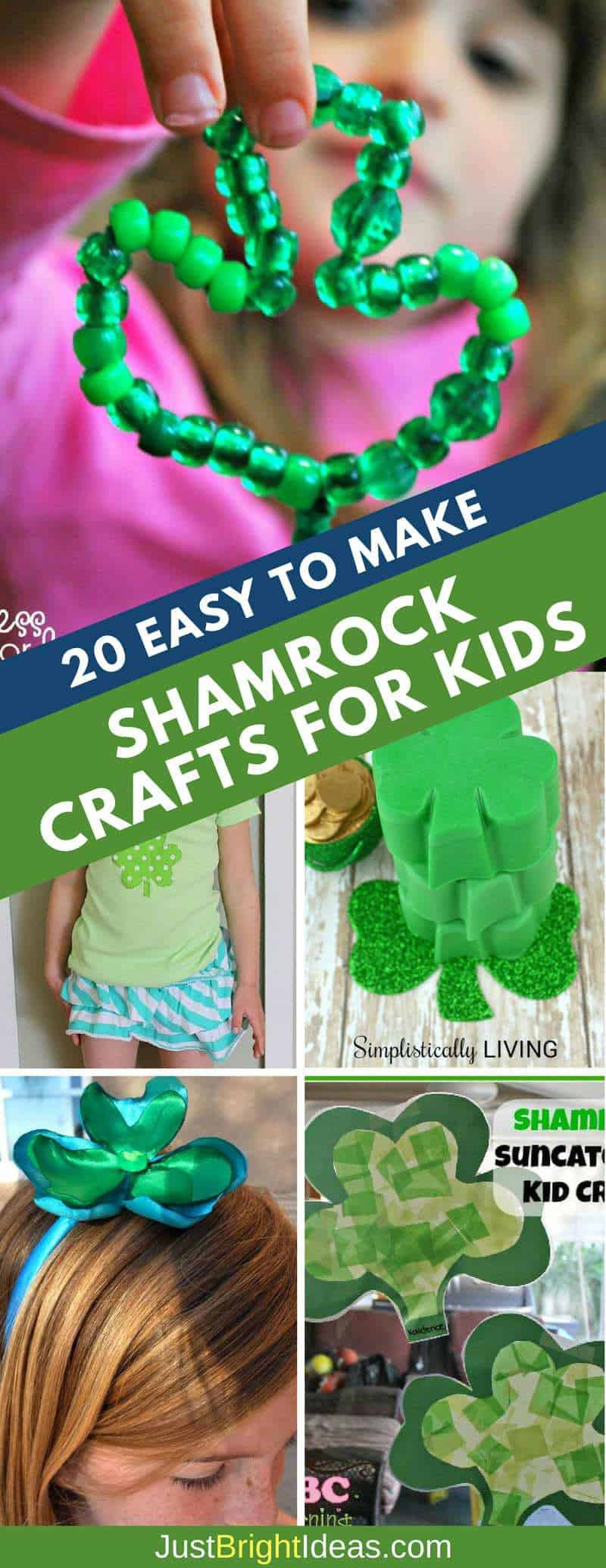 Easy to Make Shamrock Crafts for Kids Pinterest