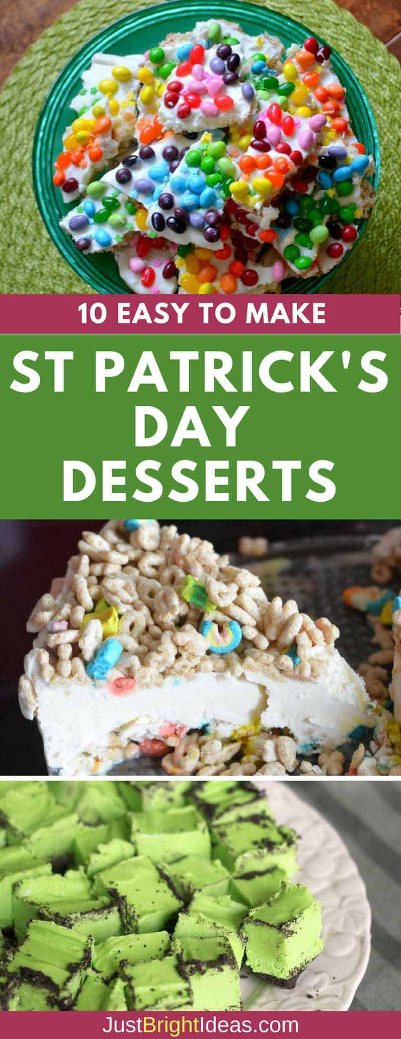 Easy to Make St Patricks Day Desserts Pinterest