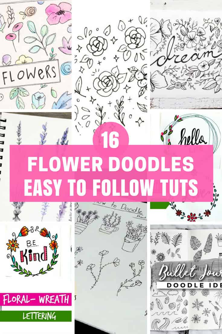 Easy to follow tuts for flower doodles