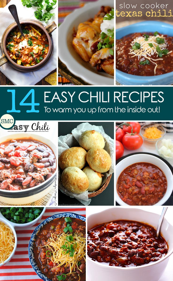 A warm and hearty chili is the perfect way to end the day when it's cold outside. We've rounded up 14 quick and easy chili recipes so that you've got something to choose from on a cold day, a lazy day, or even game day. Because nothing says tailgating quite like chili right?