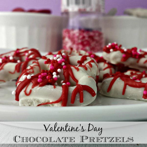 Homemade Valentine's Day Chocolate Pretzels Recipe - The Rebel Chick