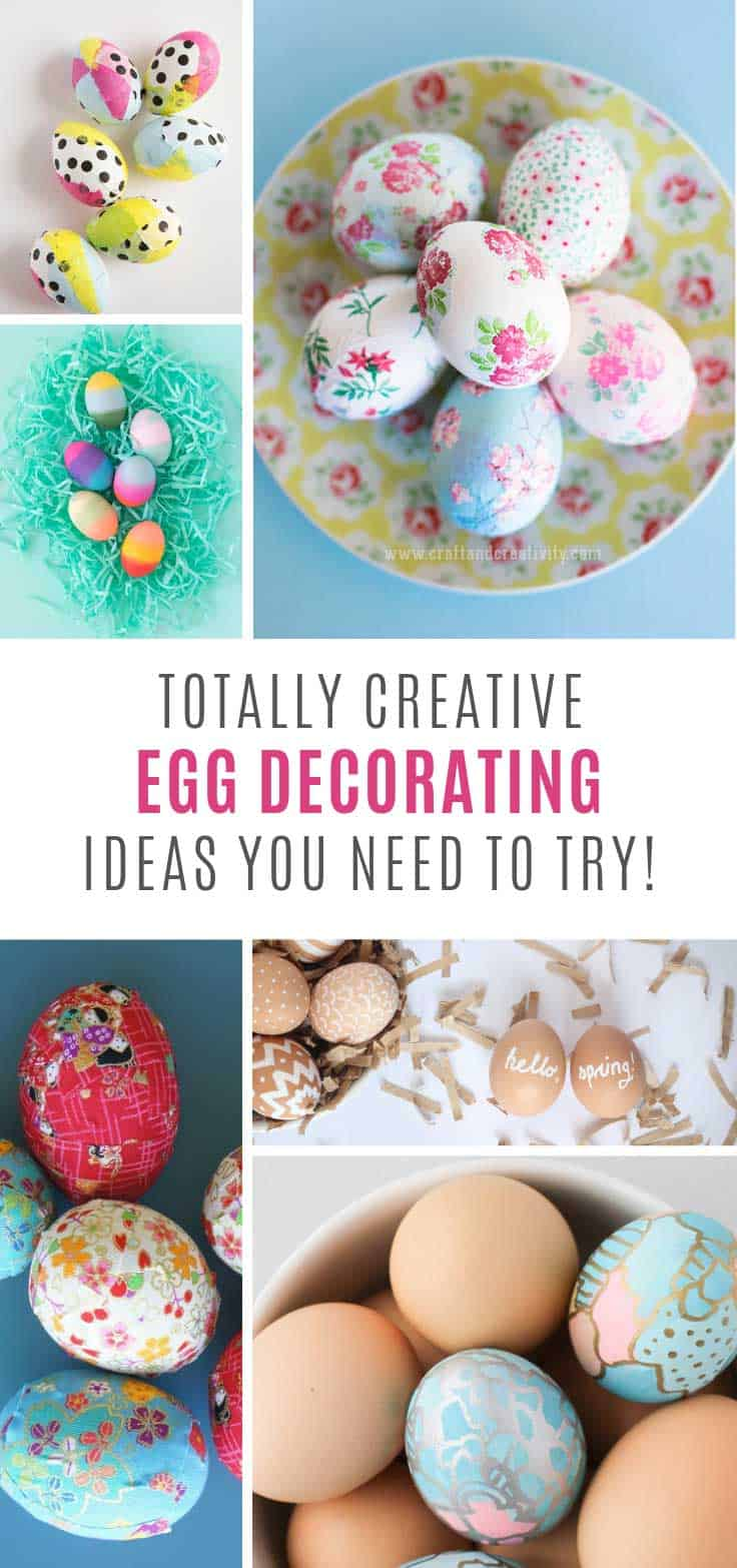 These egg decorating ideas are so creative - but so easy!