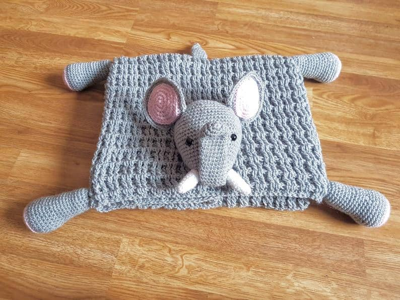 Elephant Lovey Blanket