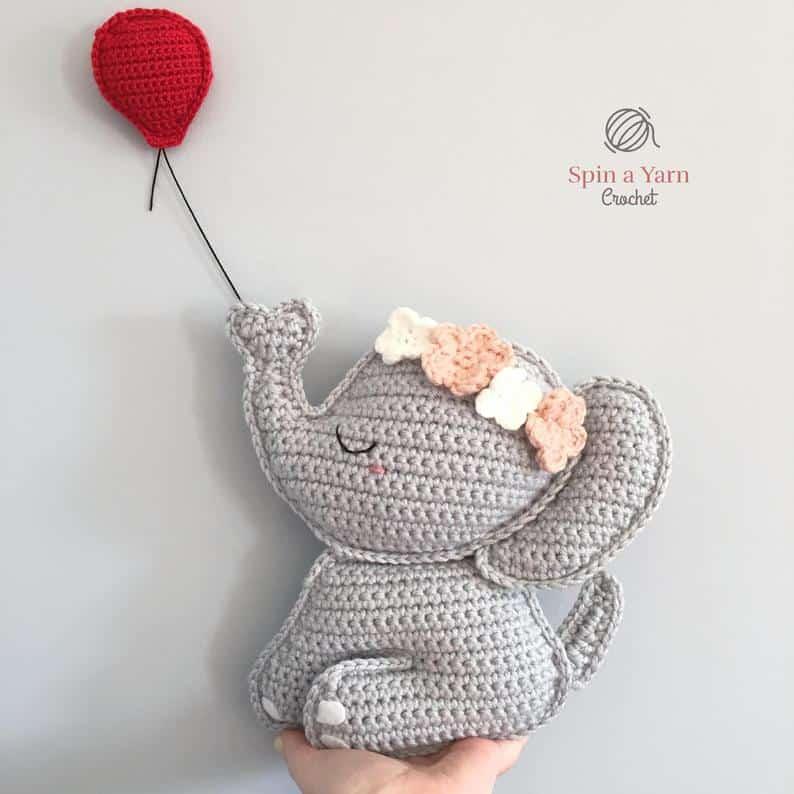 Amazon.com: Soft Crochet Toy Indian Pink Elephant: Toys & Games | 794x794