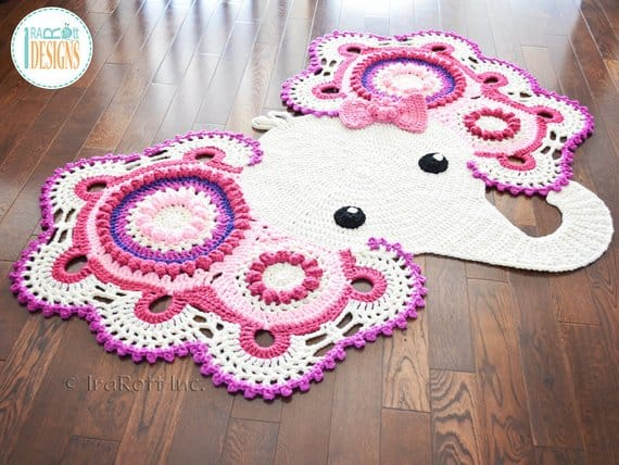 Elephant Nursery Rug Crochet Pattern
