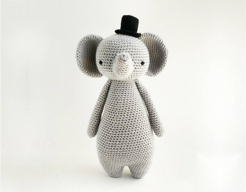 Smart Gentleman Elephant with a Top Hat