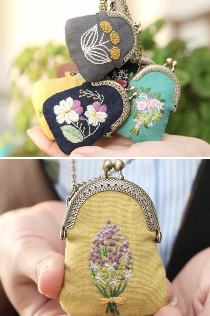 Embroider your own coin purse