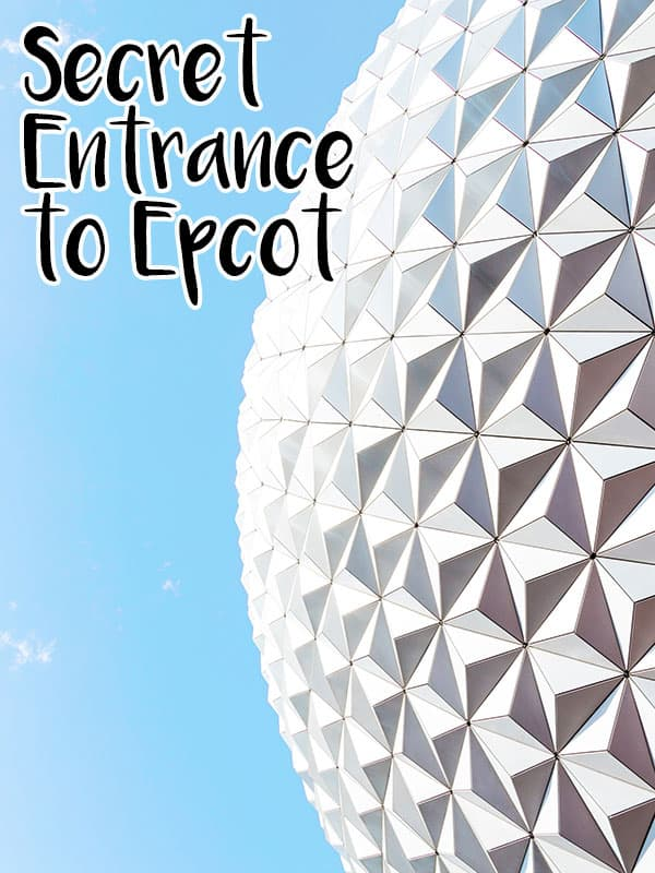 Beat the crowds by using this Epcot secret entrance that not many people know about!