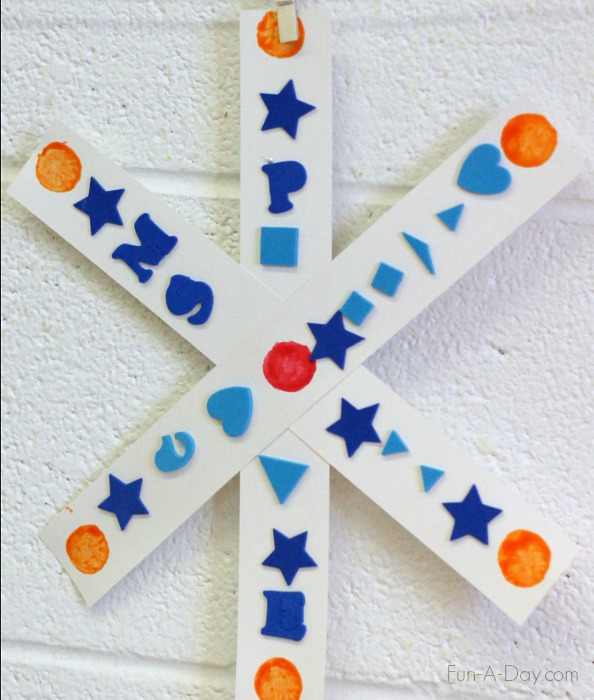 Love the idea of exploring symmetry with this snowflake craft!