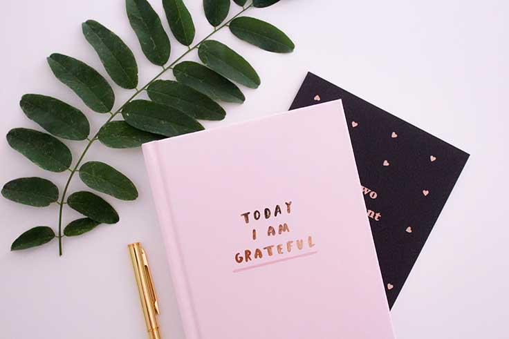 Express gratitude in your journal