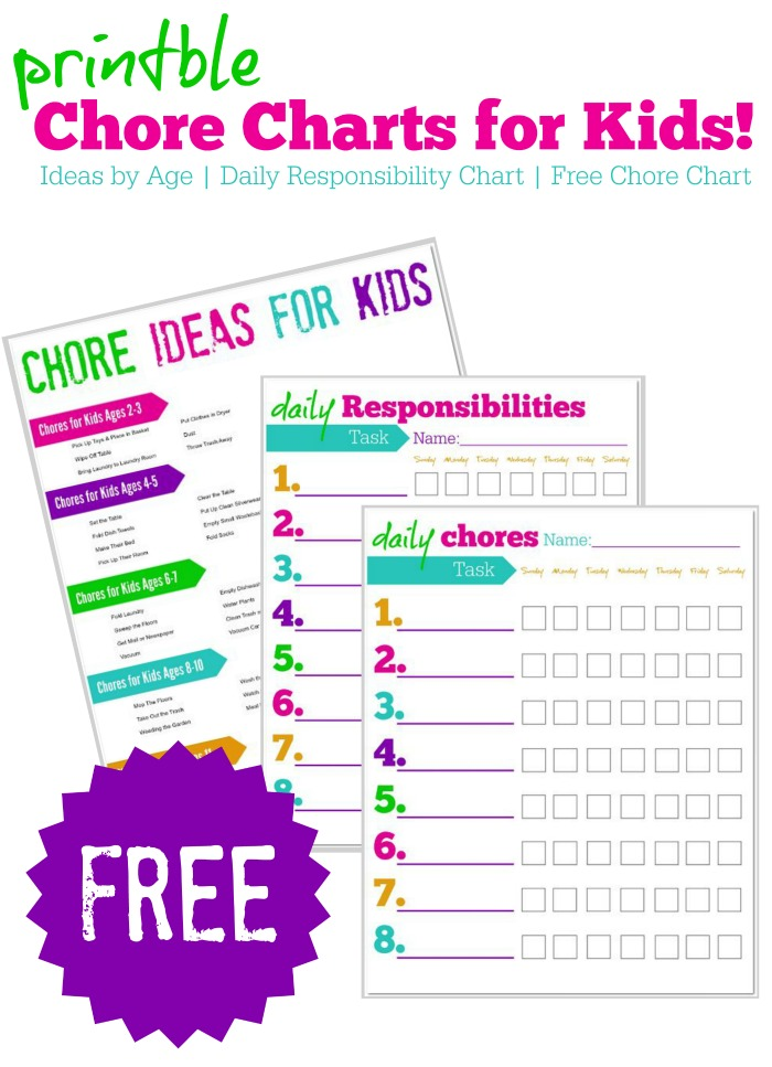 graphic about Printable Chore Charts for Multiple Children named Chore Charts for Small children they perform which includes magic!