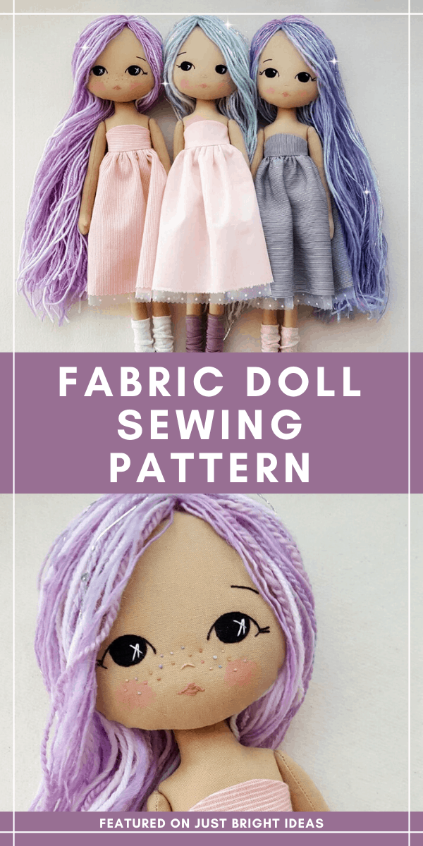 How sweet is this trio of dolls! They're made from fabric and are made from a simple sewing pattern. Your little girl will play with them for hours we're sure!