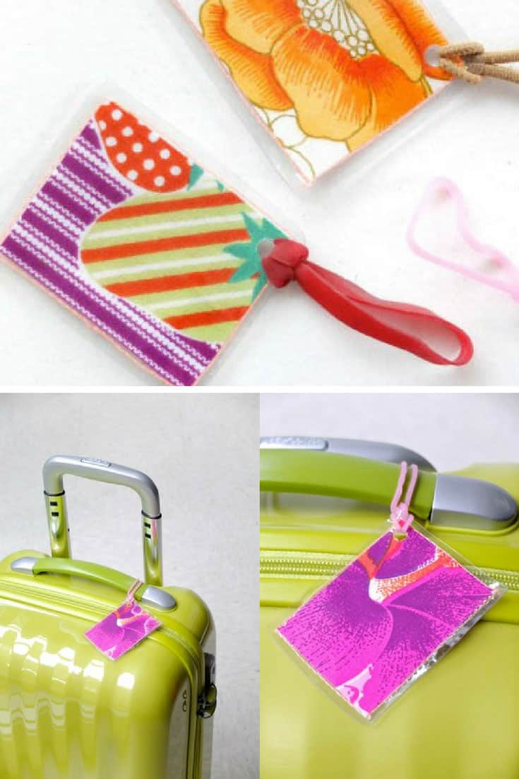 Fabric Scrap Luggage Tags