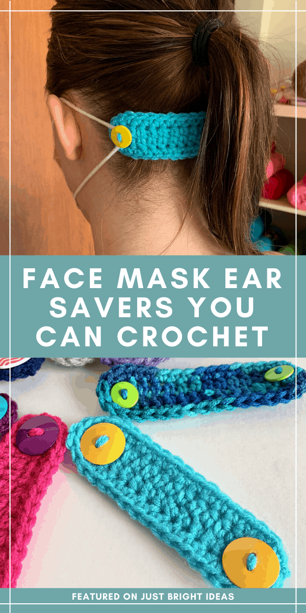 Wearing a face mask for long periods can really irritate the backs of your ears - this easy crochet pattern shows you how to make an ear saver - why not make some for the frontline using your yarn scraps?