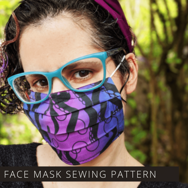 If you want to make your own face masks at home this sewing pattern is easy to follow and can be downloaded so you can get started right away