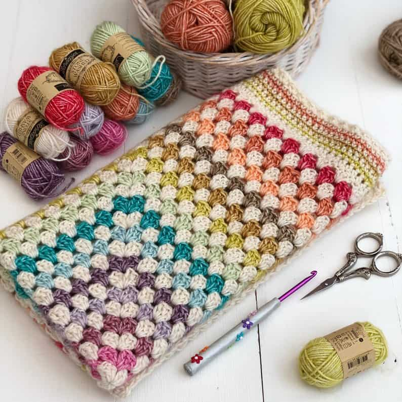 Fairground, Granny Square Crochet Blanket Pattern