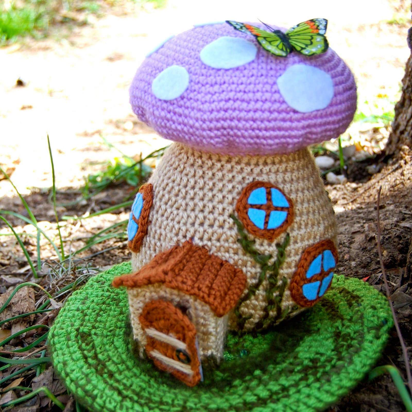 Fairy Toadstool House Crochet Pattern Free