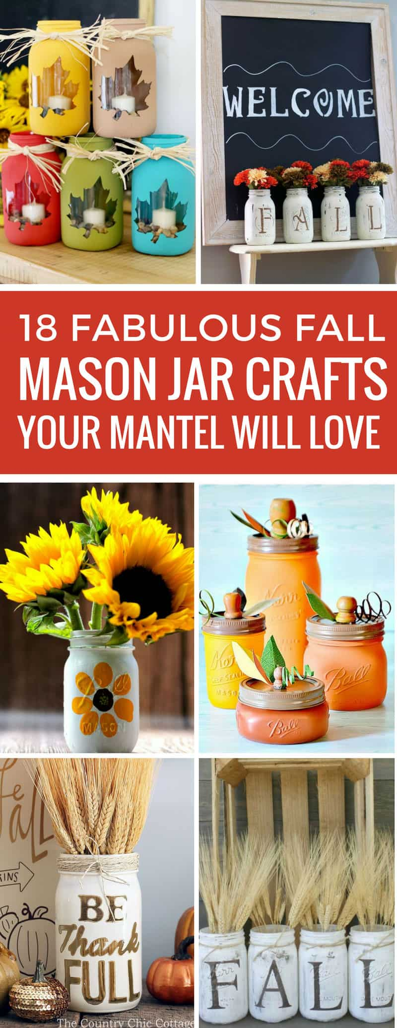 These Fall mason jar craft ideas are gorgeous! I can't wait to decorate my mantel - and add one to my table as a centerpiece! Thanks for sharing!
