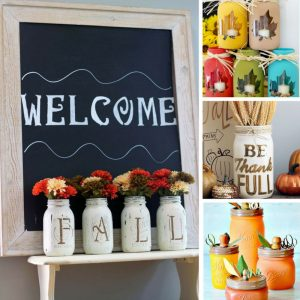 Loving these Fall mason jar crafts - they're going to look so pretty on my mantel!
