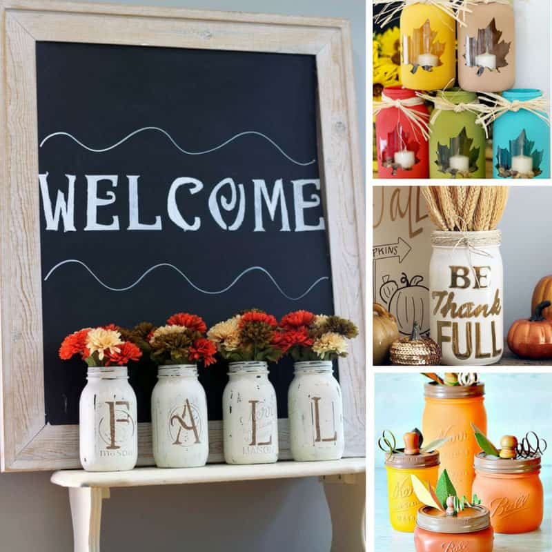 18 Fabulous Fall Mason Jar Craft Ideas Your Mantel Will Love