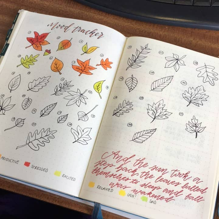 Fall Mood Tracker Bullet Journal