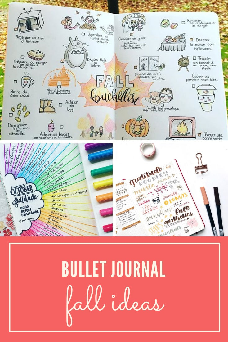 Fall ideas for your Bullet Journal