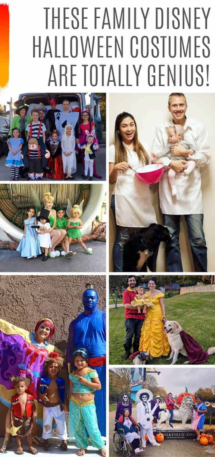 So many great family Disney Halloween costumes to wear to Mickey's Not So Scary Halloween Party this year! #mnsshp #halloween #costumes