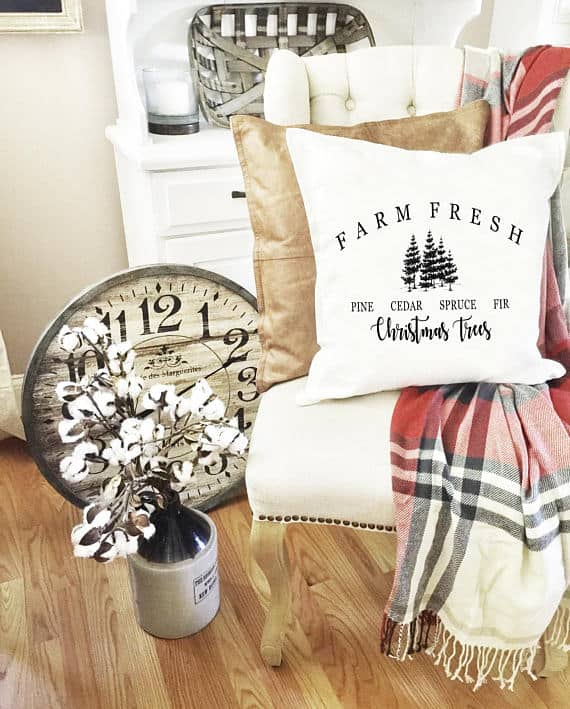 Farm Fresh Christmas Trees Fixer Upper Pillow