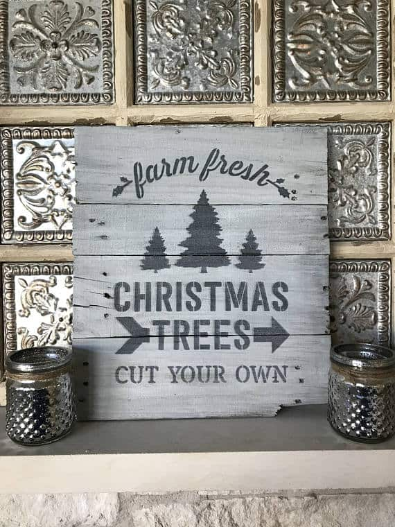 Farm Fresh Christmas Trees Fixer Upper Sign