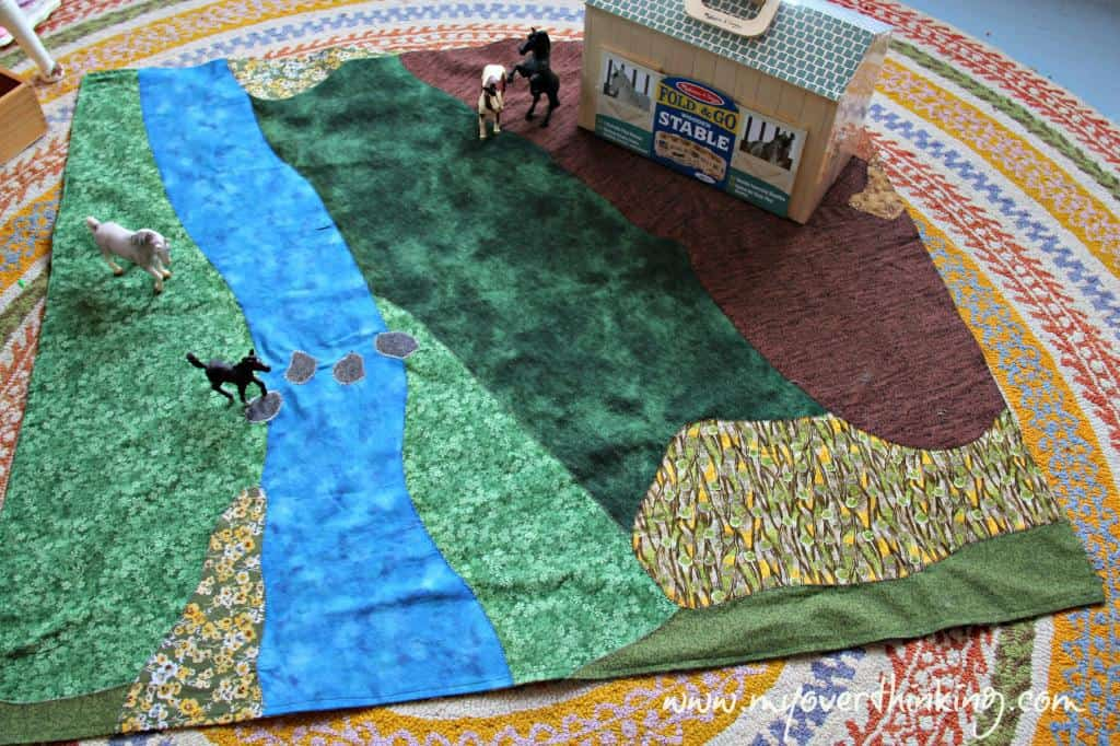 Farm playmat DIY