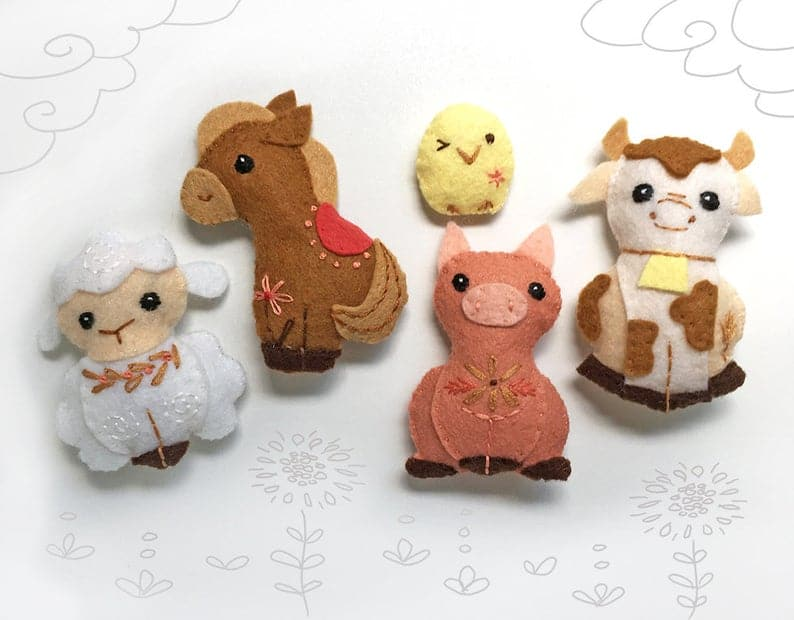 Felt Farm Animals Pattern