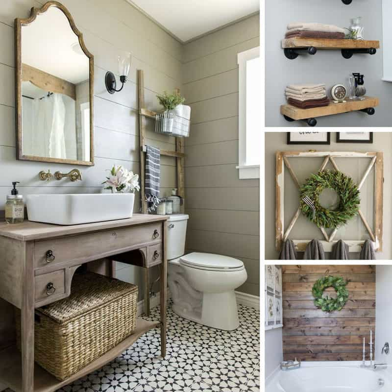 Bathroom Diy Ideas: 20 Fabulous Farmhouse DIY Projects To Makeover Your Bathroom Fixer Upper Style