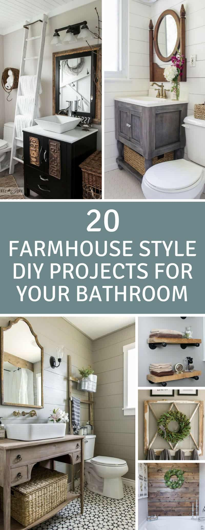 20 Fabulous Farmhouse DIY Projects to Makeover Your Bathroom Fixer ...