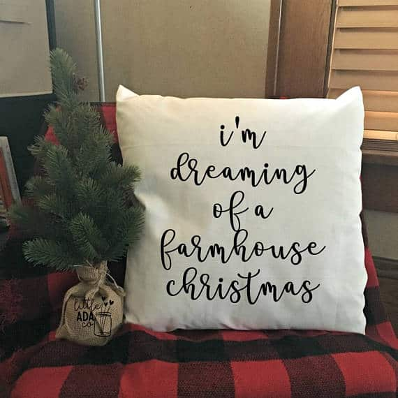 Farmhouse Pillow Cushion Cover