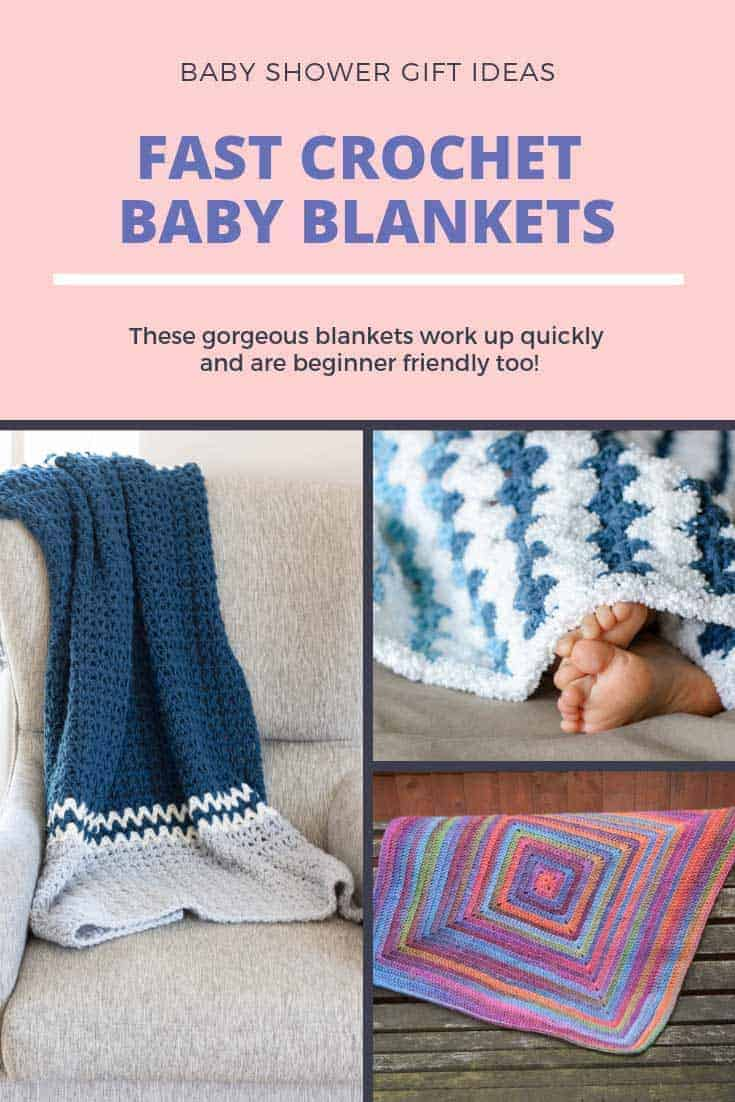 7 Fast Crochet Baby Blankets For Last Minute Gifts