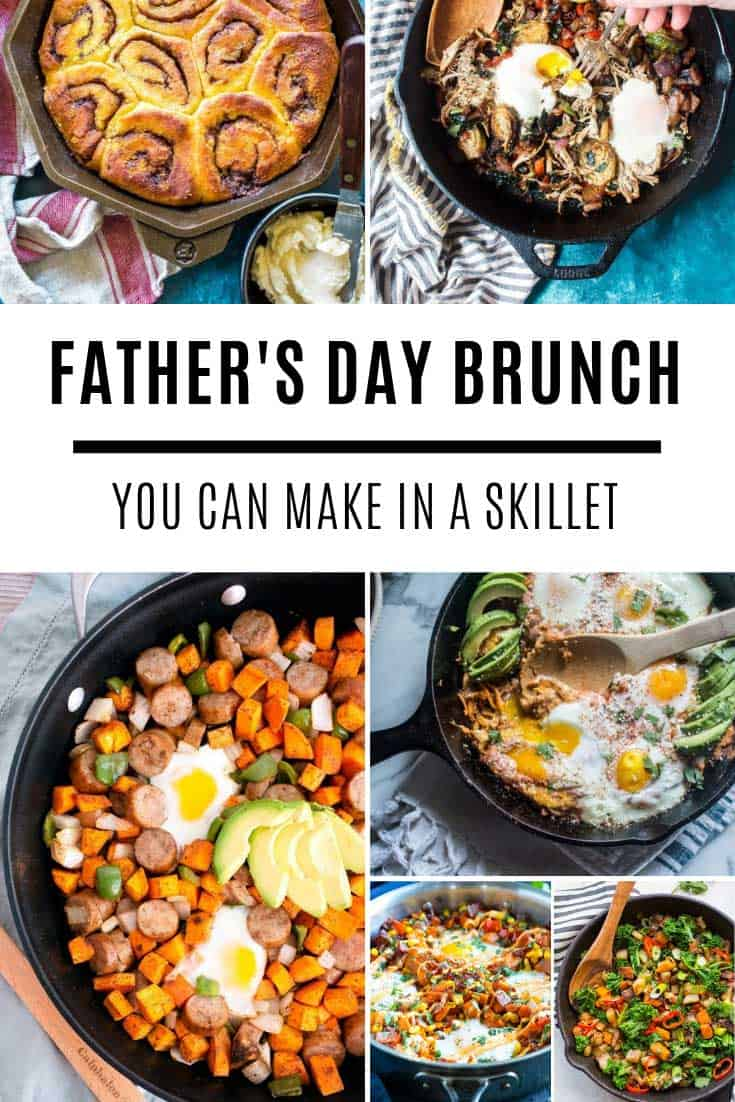 If you're planning a Father's Day brunch you need to try these gluten free skillet recipes that are healthy and hearty!