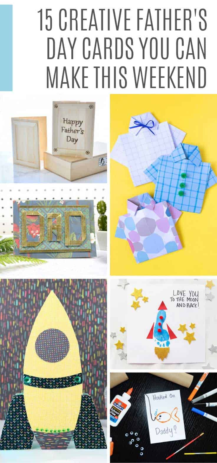 If you're looking for Father's day cards to make with the kids we've got all the ideas you need!