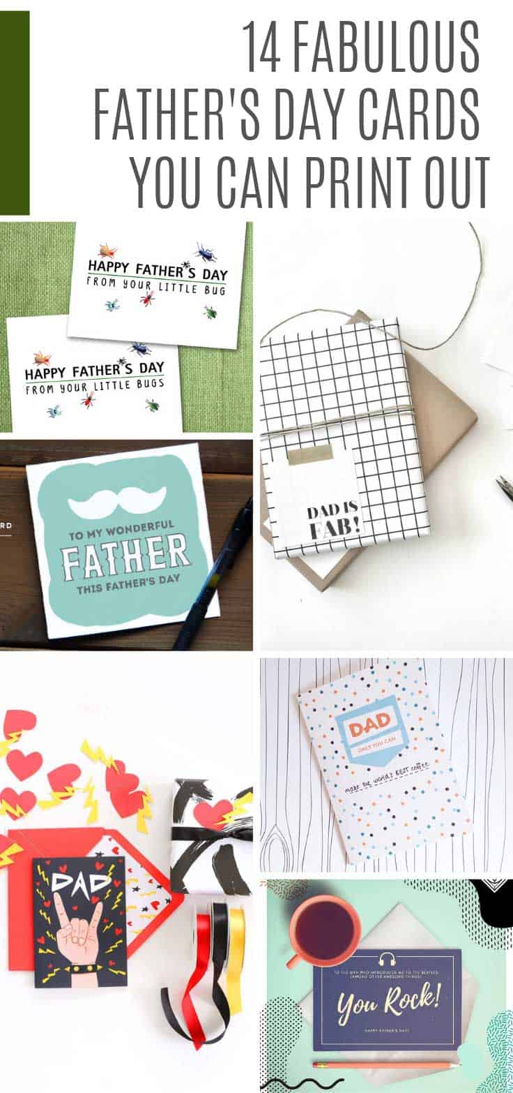 If you're looking for Father's Day cards you can print out you'll be spoiled for choice with these free printables!