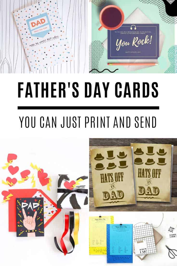 These Father's Day cards that you can print out and send are free and so much cuter than the ones from the store!